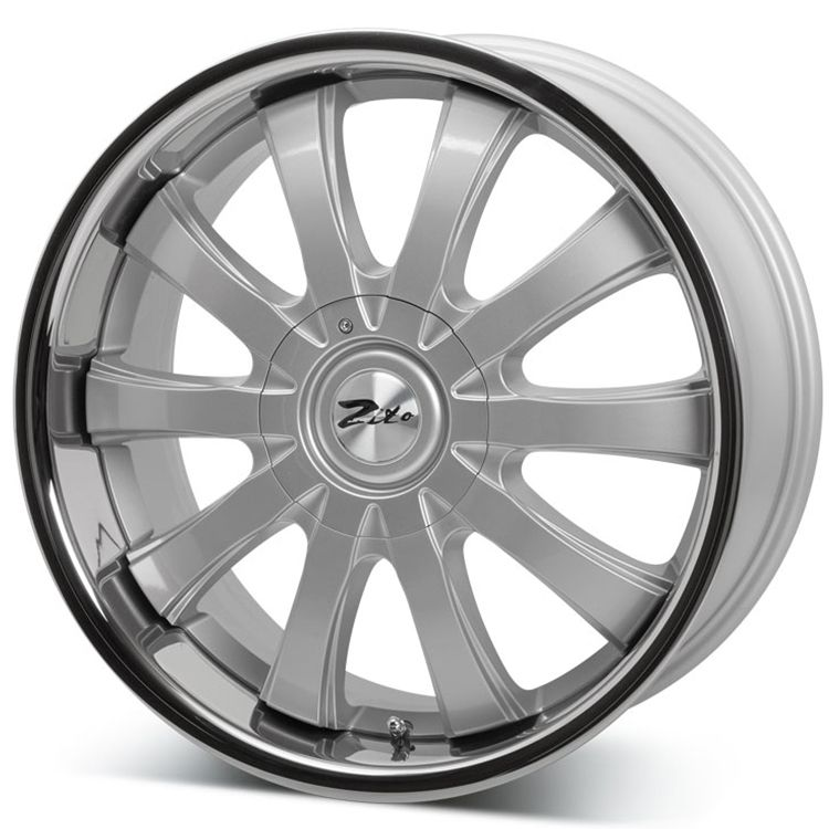Great 20 2019 Trd Style Satin Black Wheels Fits Toyota: 20 ZITO DEROSA EVO SILVER INOX Alloy Wheels For 6 Studs