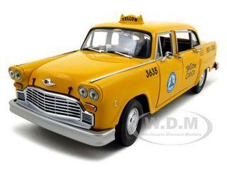 1981 Los Angeles Taxi Cab Checker Diecast Car Model 1 18 Die Cast