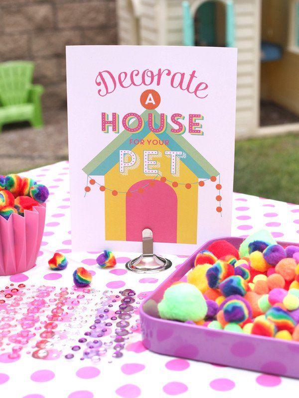 Adopt A Pet Birthday Party Printables