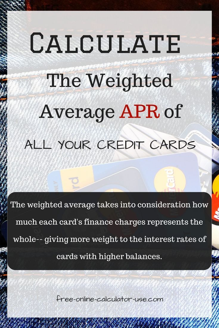 credit card interest rate calculator calculate weighted average