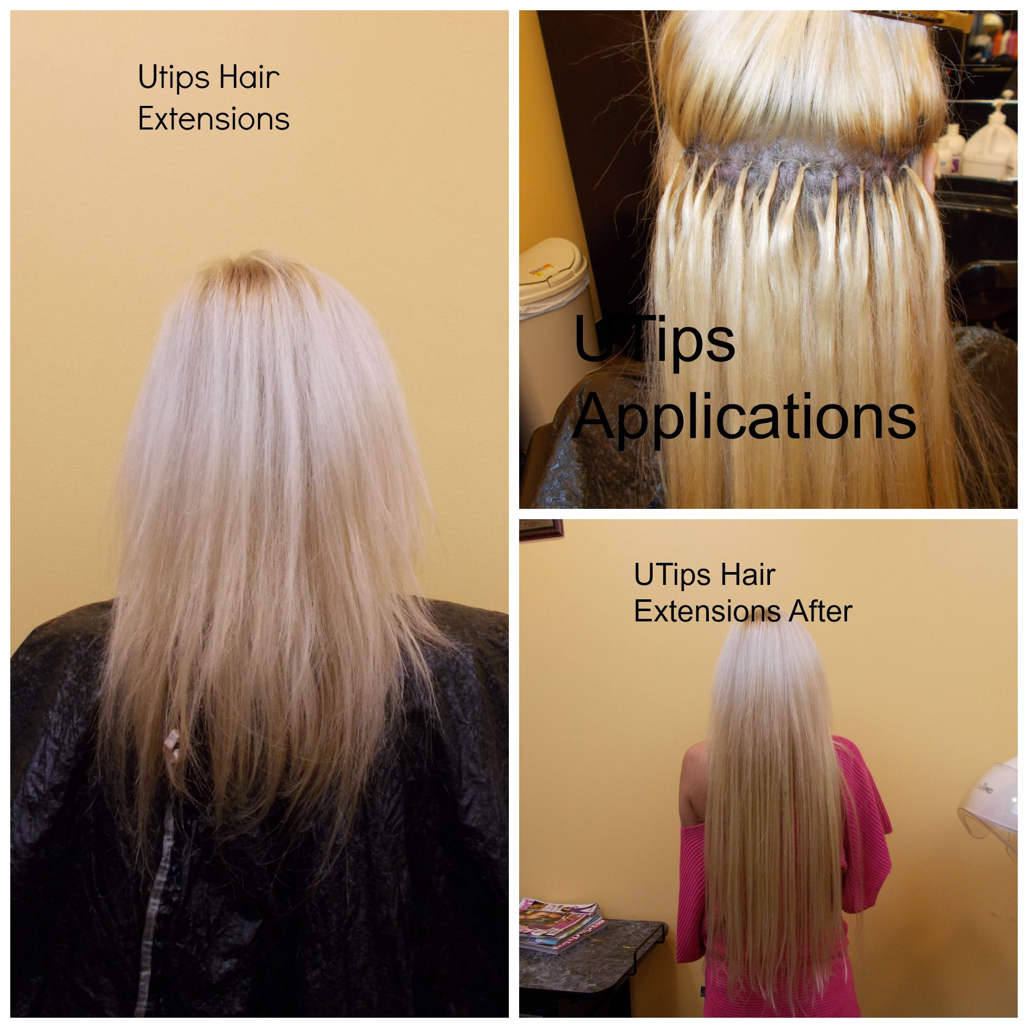 Utips Hair Extensions Installed With 100 Remy Hairll For A