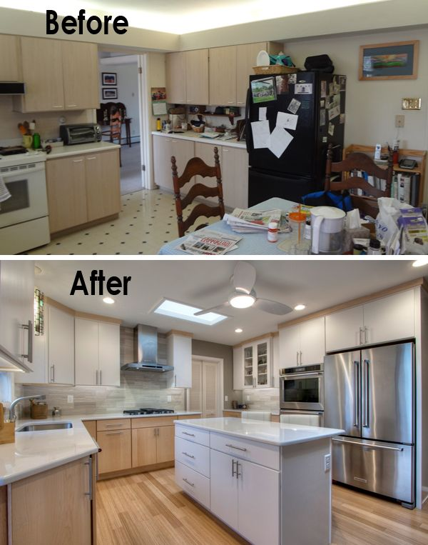 Mid Century Modern Kitchen Remodel Ideas Part - 21: Before U0026 After Photos Of A Mid-century Kitchen That Goes Modern. Small  Kitchen MakeoversSmall ...