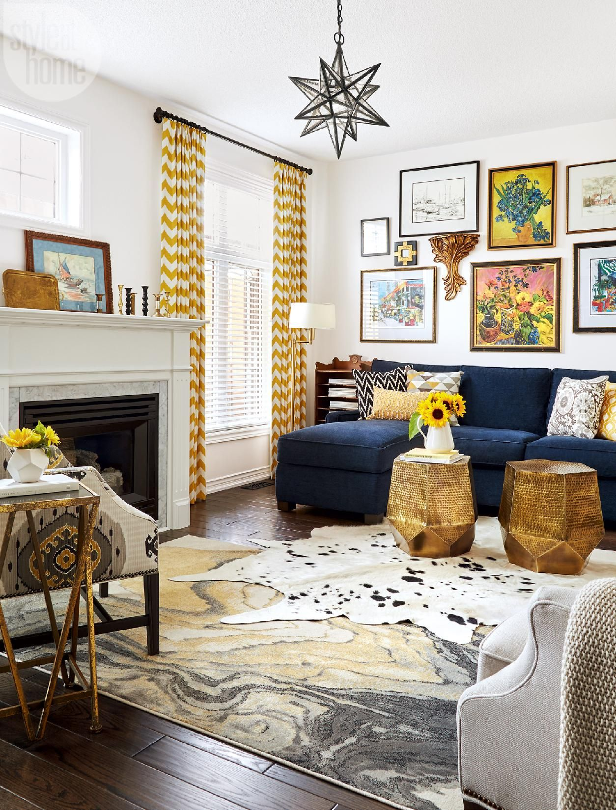 Townhouse Living Room Design: House Tour: Bold And Bright Townhouse