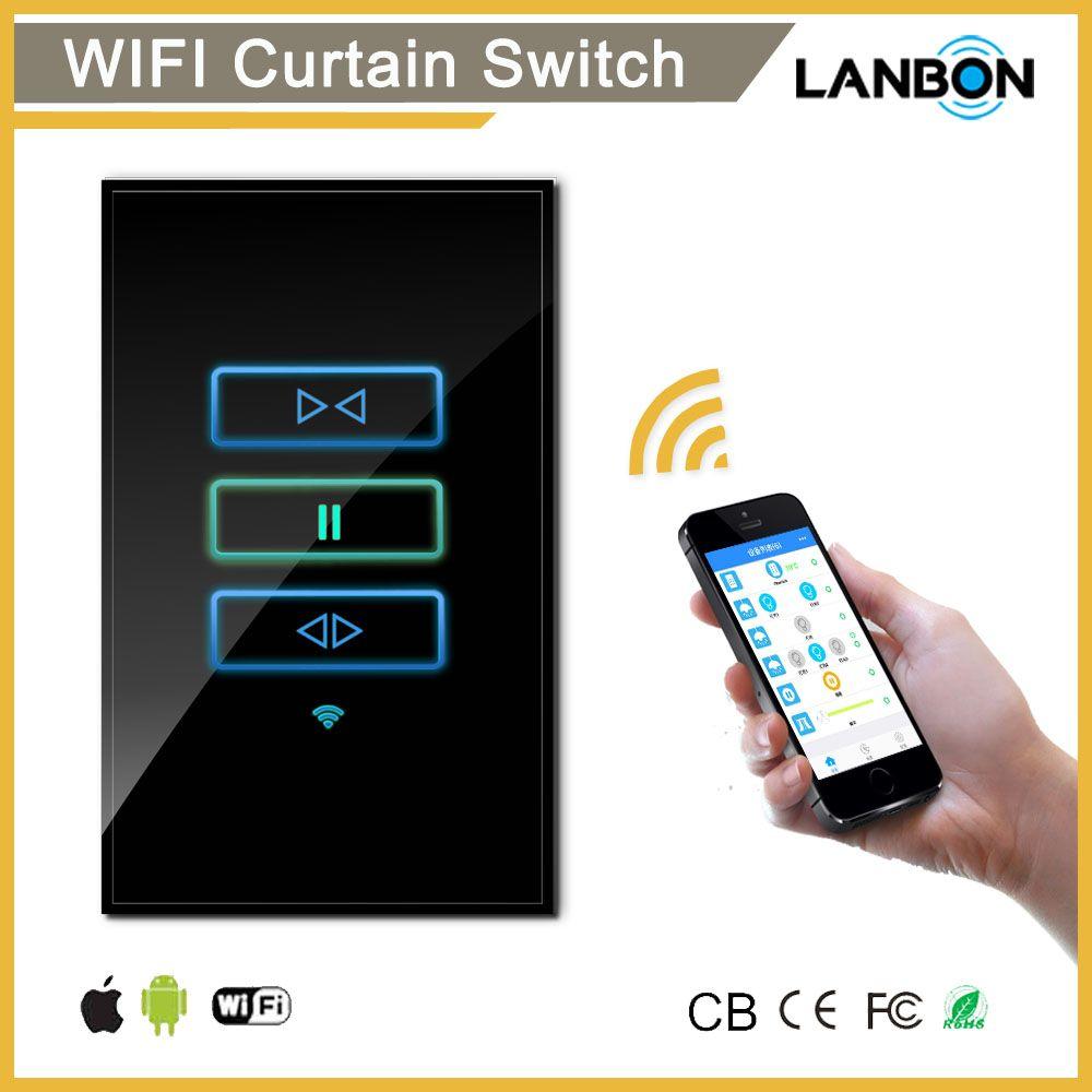 Lanbon Smart Home Automation Wifi Smart Switch Remote Wireless Curtain Switch Alexa Echo Google Home Iot Switches Wifi Dimmer Switch Smart Switches Smart Wifi