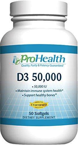 Prohealth Vitamin D3 50000 50000 Iu 50 Softgels Vitamin D Supplement You Can Find Out More Details At The Aff Healthy Bones Vitamin D Supplement Vitamin D