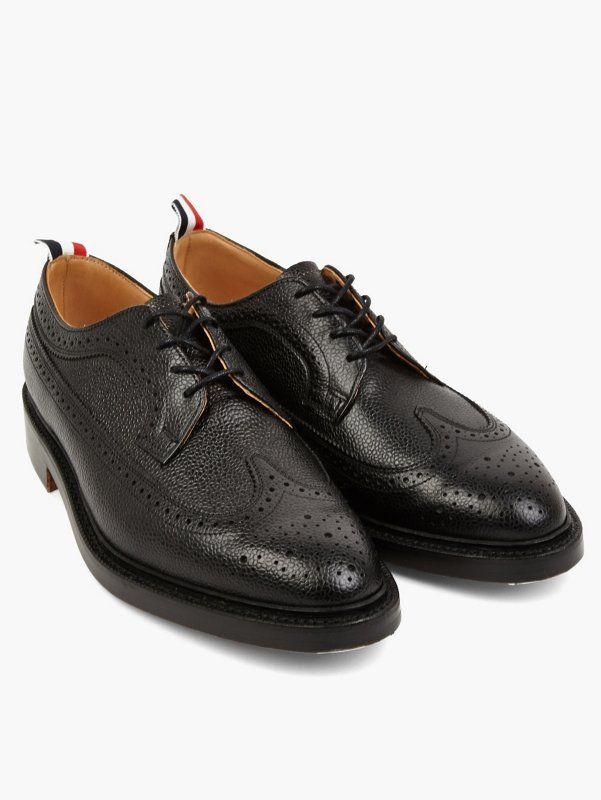 5be21bb206 Thom Browne Men's Black Classic Wingtip Brogues | oki-ni | STYLE ...