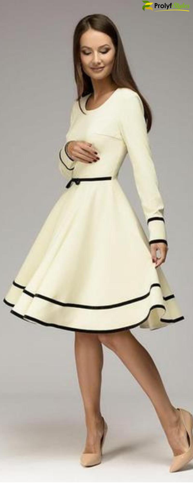 0bc8f97df6 Flare dress, casual dress, a-line dress, knee length dress, long sleeve  dress, a-line dress work, stylish fall dress #dress, plus size dresses,  creme dress, ...