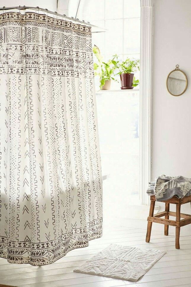 Mudcloth Shower Curtain Urban Outfitters Curtains Bathroom
