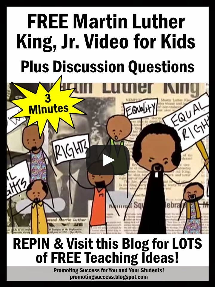 FREE Martin Luther King, Jr. Video and Discussion Questions