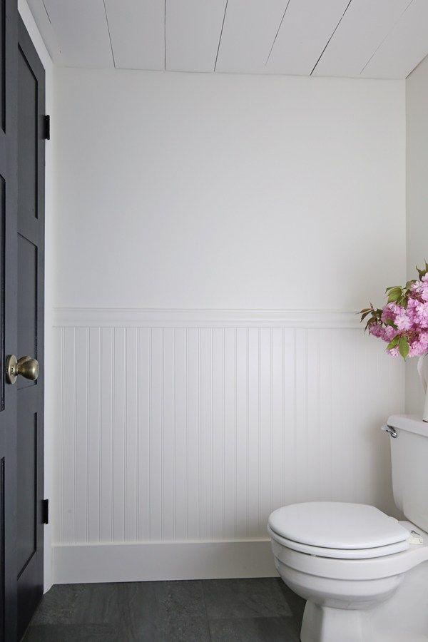 Photo of DIY Beadboard Bathroom – Angela Marie Made –  How to install beadboard in a bath…