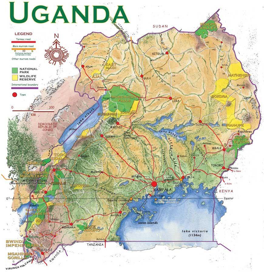Uganda map maps pinterest uganda uganda map gumiabroncs Images
