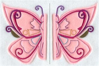 Personalized Split Butterfly Applique Hooded by DAngeloDesigns, $45.00