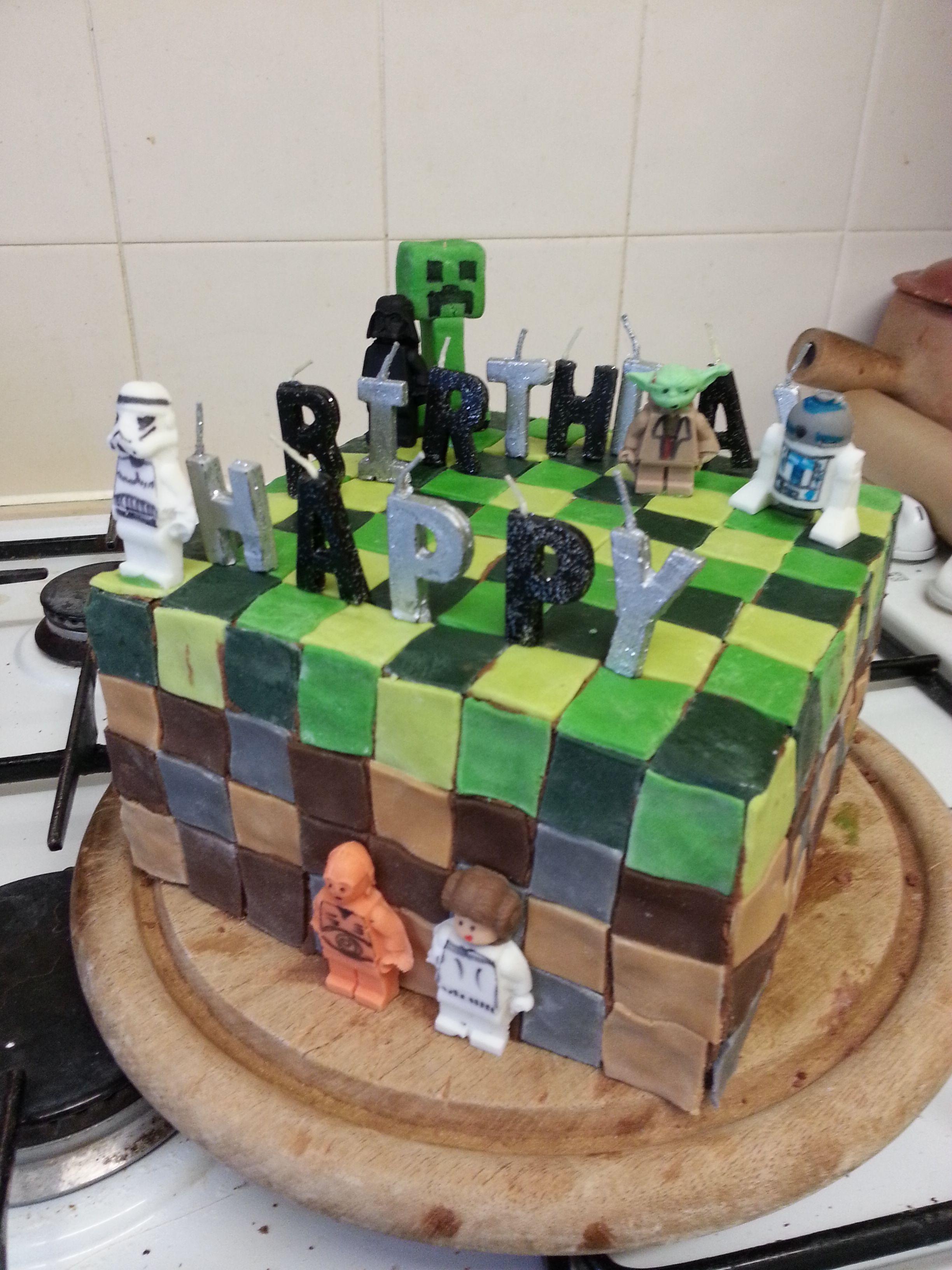 Minecraft / Lego Star Wars Cake
