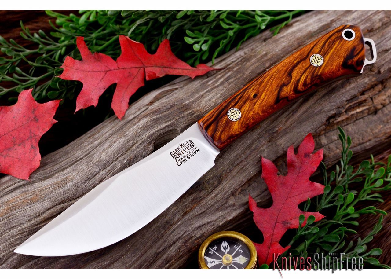 KnivesShipFree - Bark River Knives: Trail Buddy - CPM S35VN - Desert Ironwood - Mosaic -