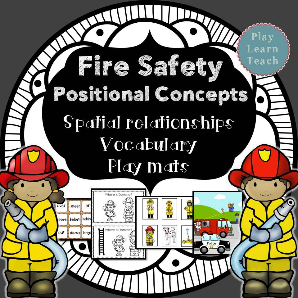 Fire Safety Positional Concepts Spatial Relationships Vocabulary Play Mats Fire Safety Preschool Fire Safety Fire Safety Activities [ 960 x 960 Pixel ]