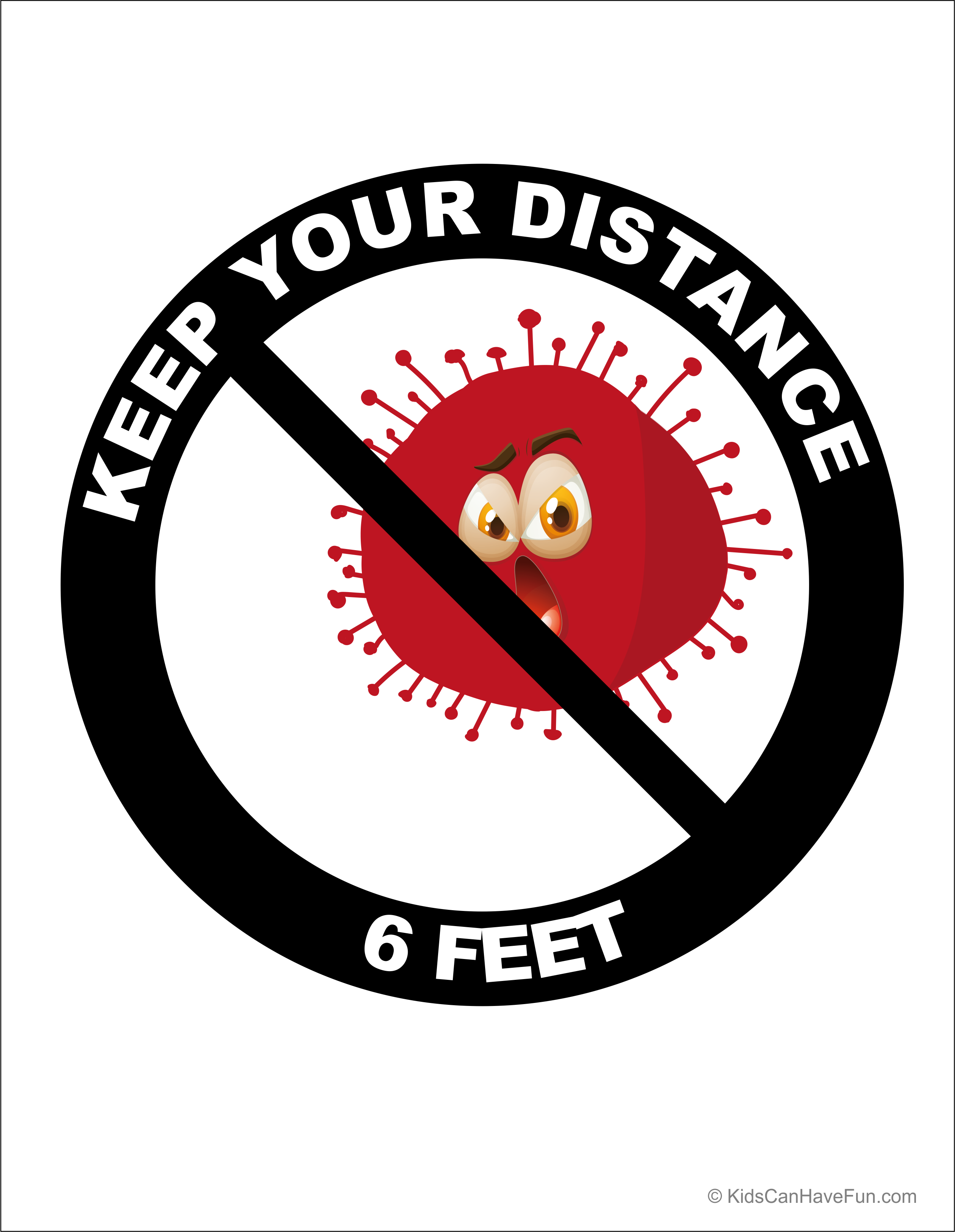 Keep Your Distance 6 Feet Poster In