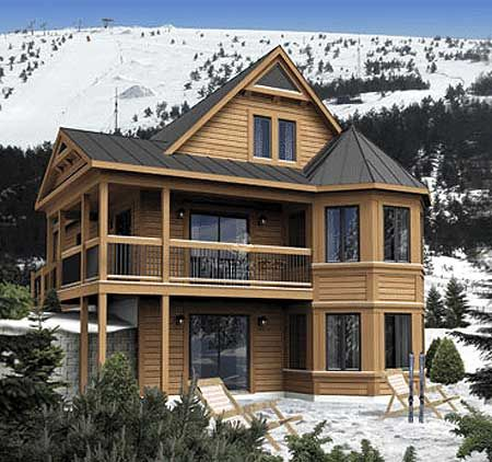 Plan 80679pm Vacation Cabin With Loft Option In 2021 Log Cabin House Plans Mountain House Plans House Plans