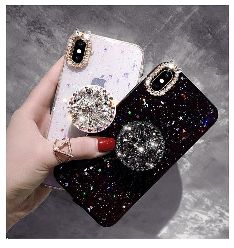 promo code 0ff87 0f4fe Bling Diamond Airbag iPhone Case With Popsocket, iPhone XS Max Case ...