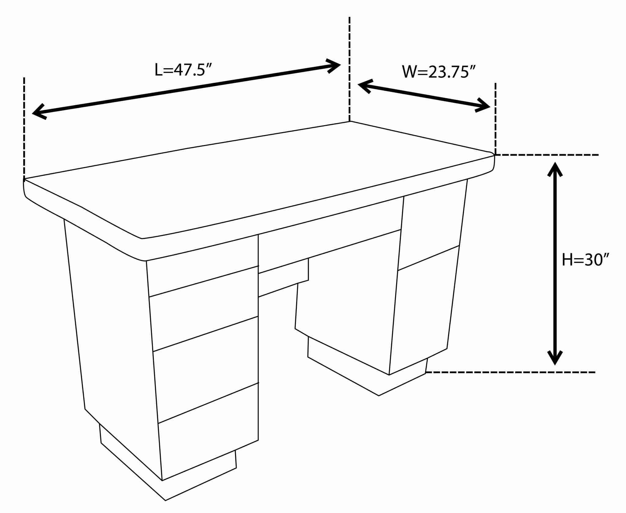 27 Exclusif Dimension Table In 2020 With Images Office Table