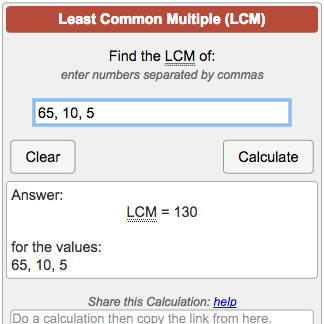 Calculate The Lcm Least Common Multiple Of 2 Or More Numbers Find