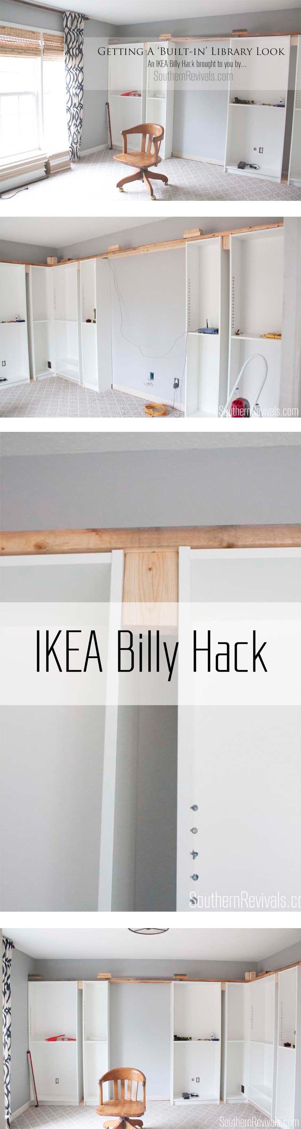 office makeover part 1 building in billy ikea hack diy. Black Bedroom Furniture Sets. Home Design Ideas