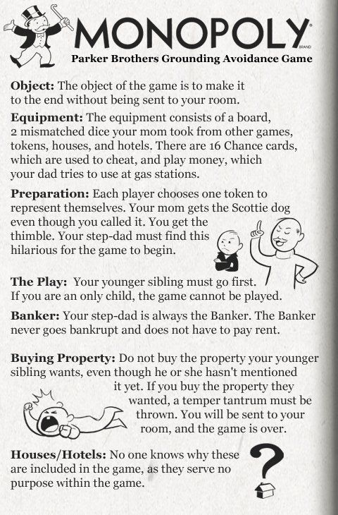 Monopoly Instructions Funny Pinterest Monopoly Games And