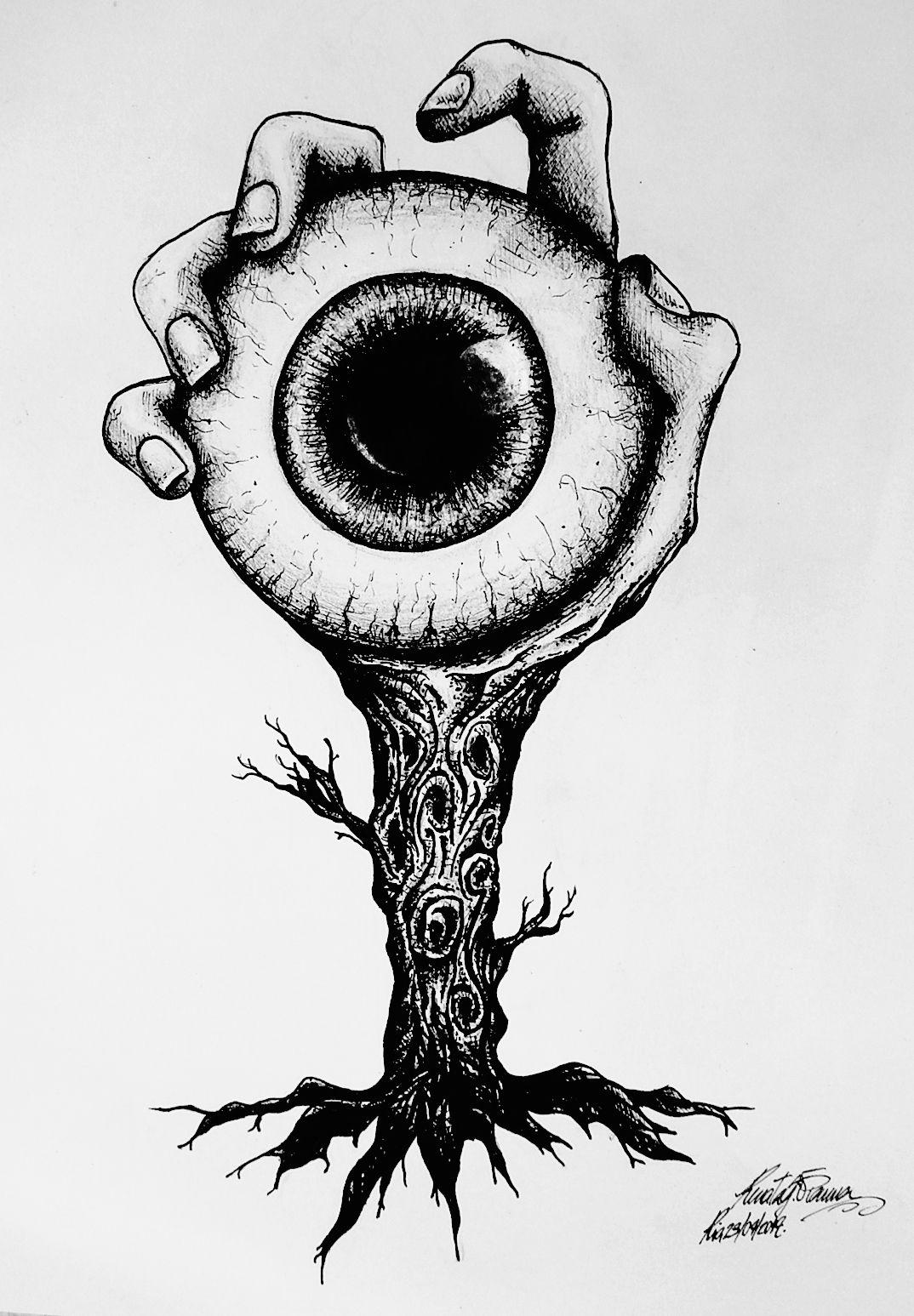 Terror Desenhar Arte Horror Ideias Esboço E Arte Com Caveiras
