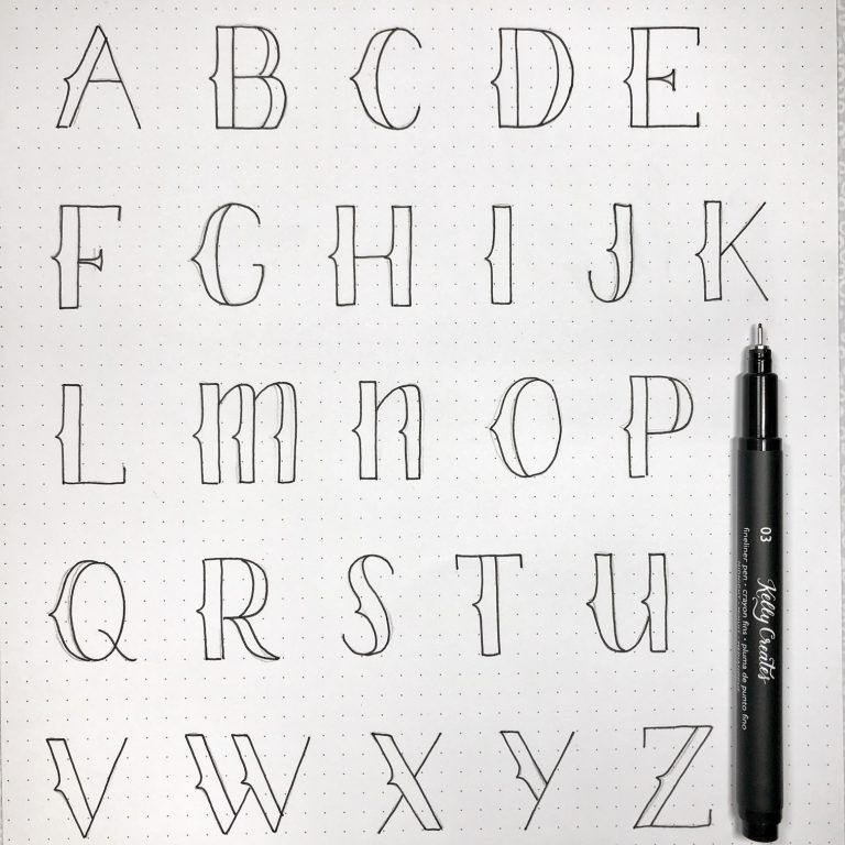 Easy Hand Lettered Alphabet Style to Practice – Kelly Creates