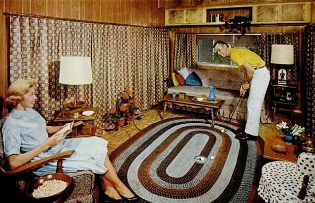 PORTABLE LEVITTOWN: April 2012 | 1950 1960 rugs | Pinterest | Wood ...