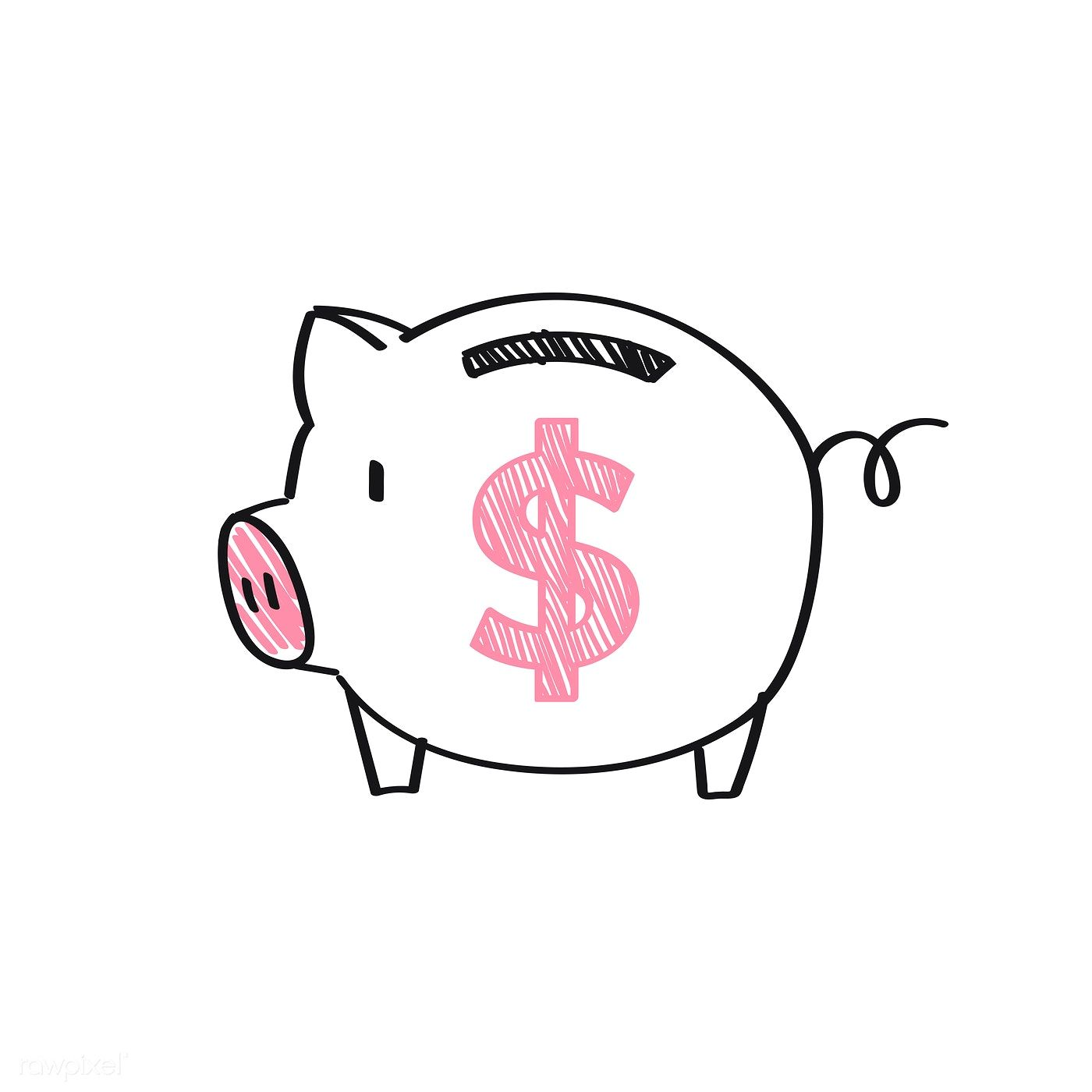 Piggy Bank With A Dollar Sign Illustration Free Image By Rawpixel Com Minty Piggy Bank Money Sign Pink Piggy Bank