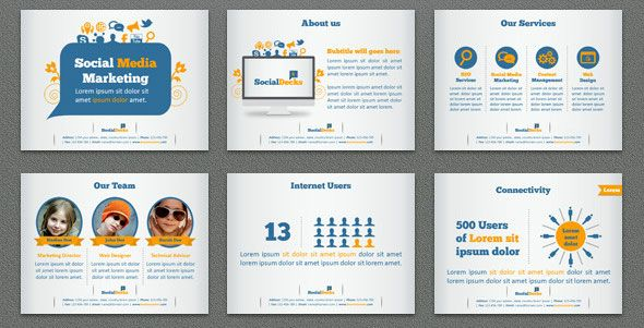 Socialdecks-Keynote-Template | Powerpoint | Pinterest | Keynote And