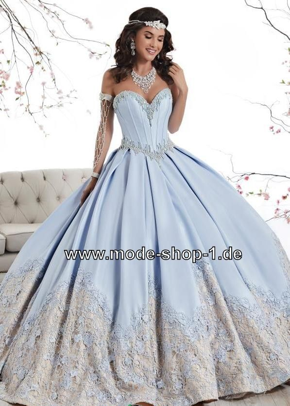 Ballkleid 2018 Brautkleid Else in Hell Blau | Ballkleider 2018 ...