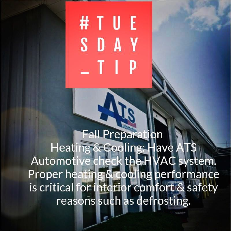 Automotive Tip Tuesday Heating Cooling Fall Preparation