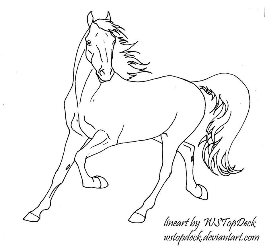 Trotting Lineart-Free Use by WSTopDeck on deviantART | caballos para ...