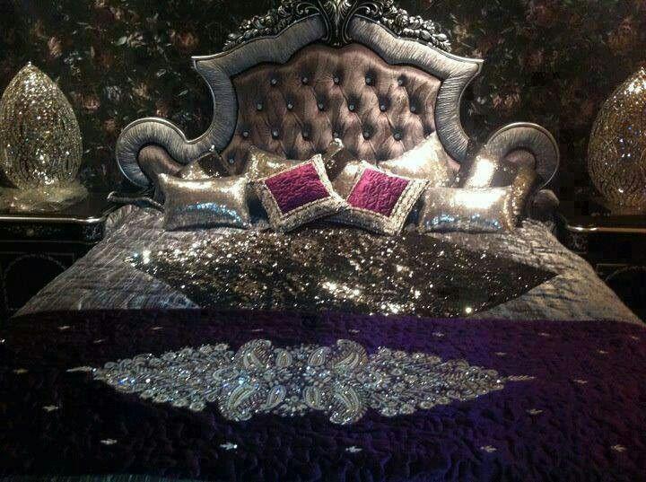 toulouse p bed he bedroom bling upholstered champagne set homelegance furniture
