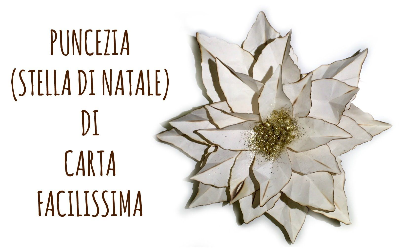 Come Fare La Stella Di Natale Di Carta.Come Fare Una Poinsettia O Stella Di Natale Di Carta How To Make A