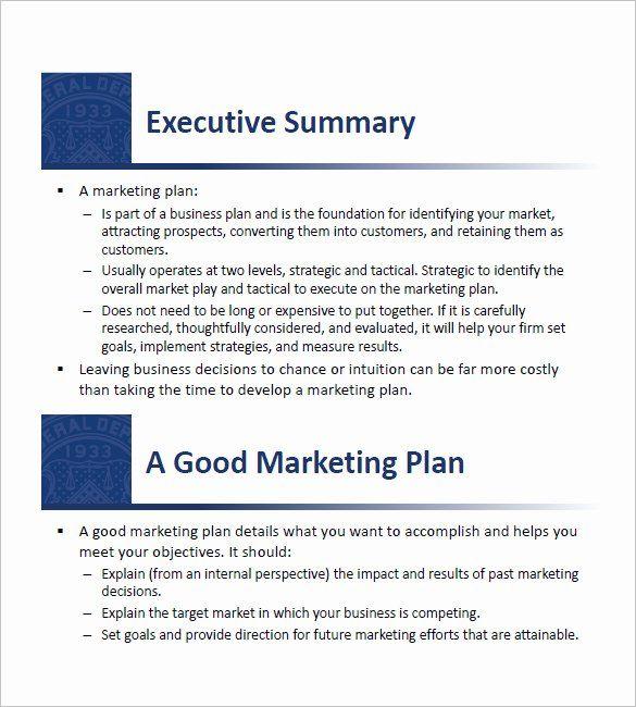 30 Sba Business Plan Template in 2020   Marketing plan ...