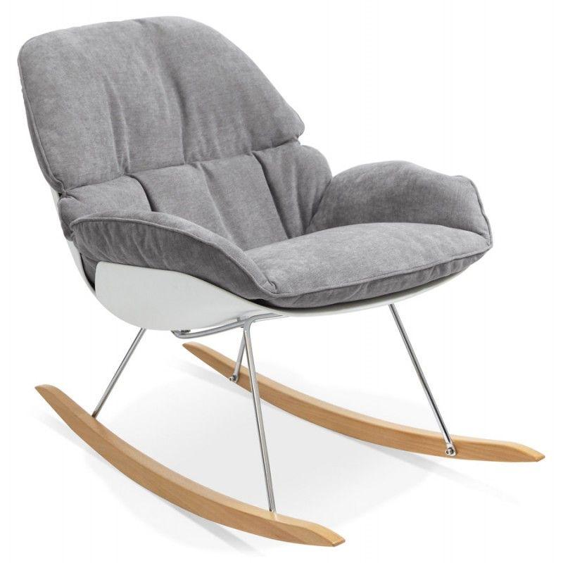Fauteuil lounge à bascule JADE en tissu (gris clair) | Pinterest ...