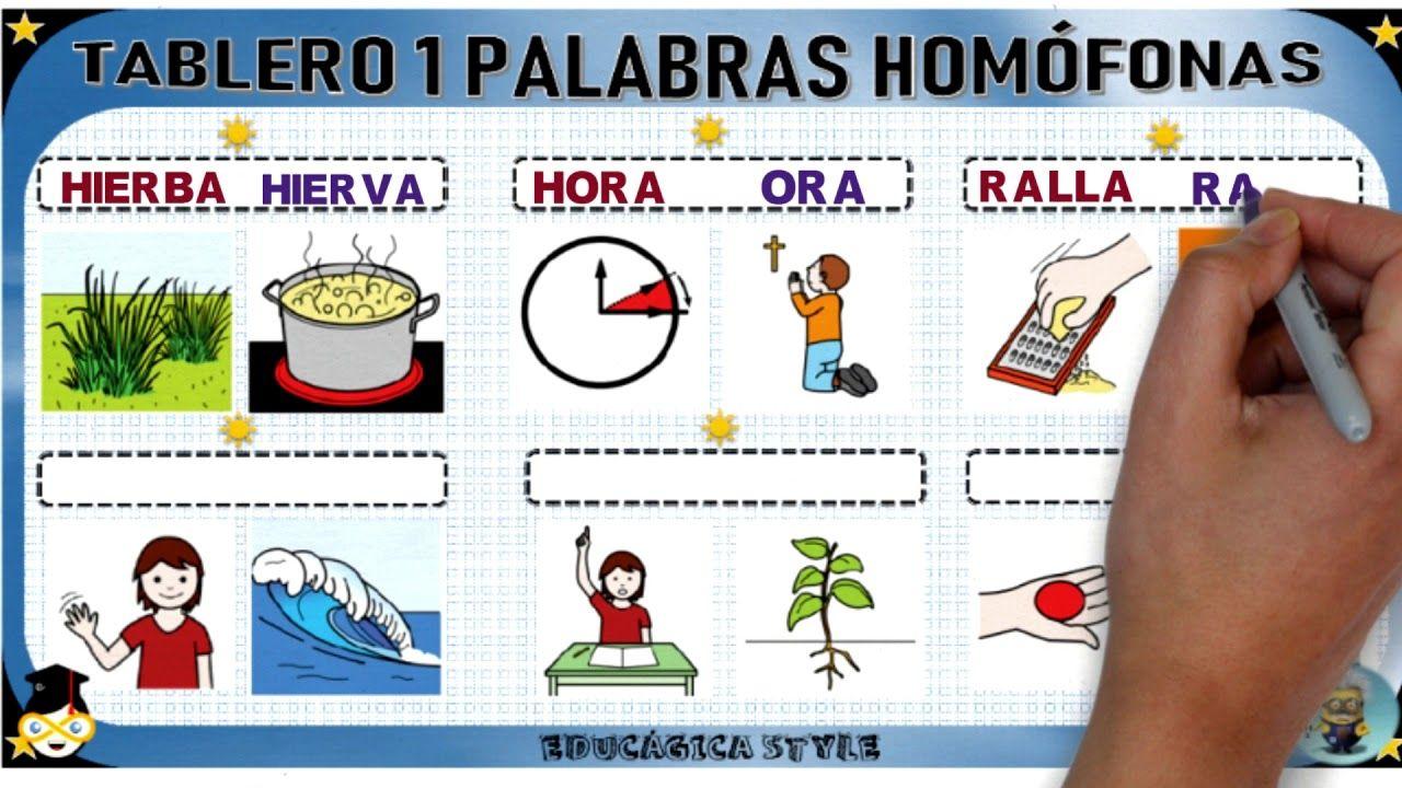 Tema 8 Lengua Palabras Homofonas Homofonas Palabras Primeros Grados