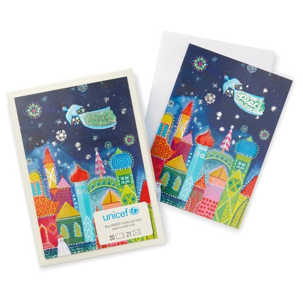 UNICEF Peaceful City Christmas Cards, Box of 20 Christmas cards