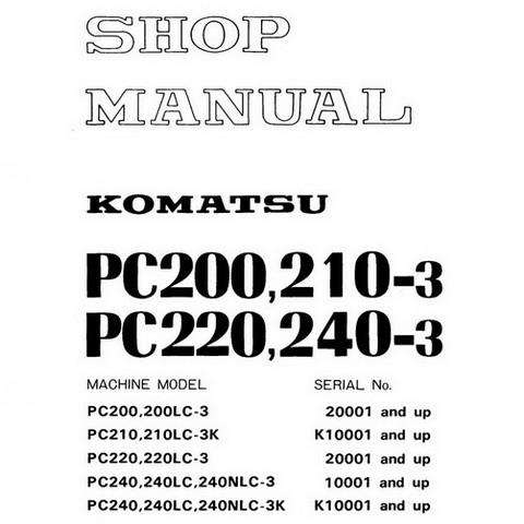 Komatsu PC200,210,220,240-3 Hydraulic Excavator Service