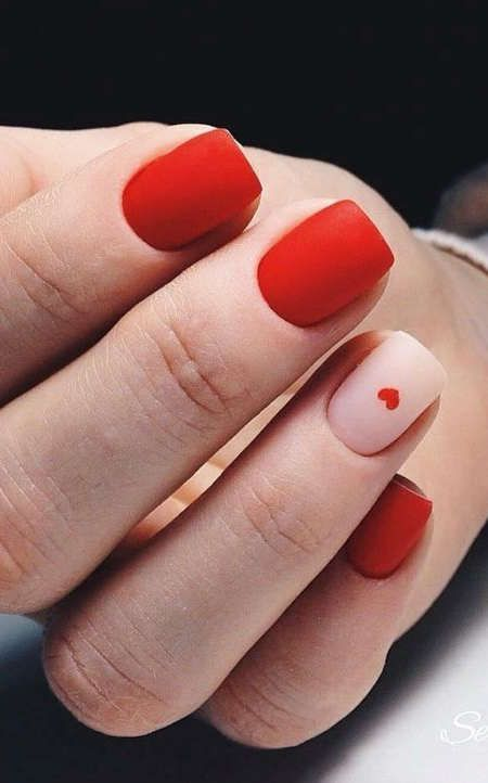 80 Cute Short Nails Design Ideas For Spring Summer Square Round Oval Nails In 2020 Red Nails Valentines Nails Trendy Nails