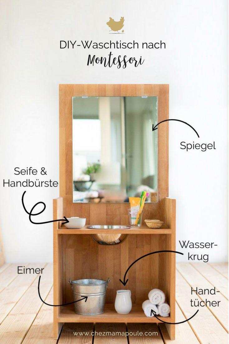 DIY: Montessori-Waschtisch (Oder: Zähneputzen ohne Kampf)
