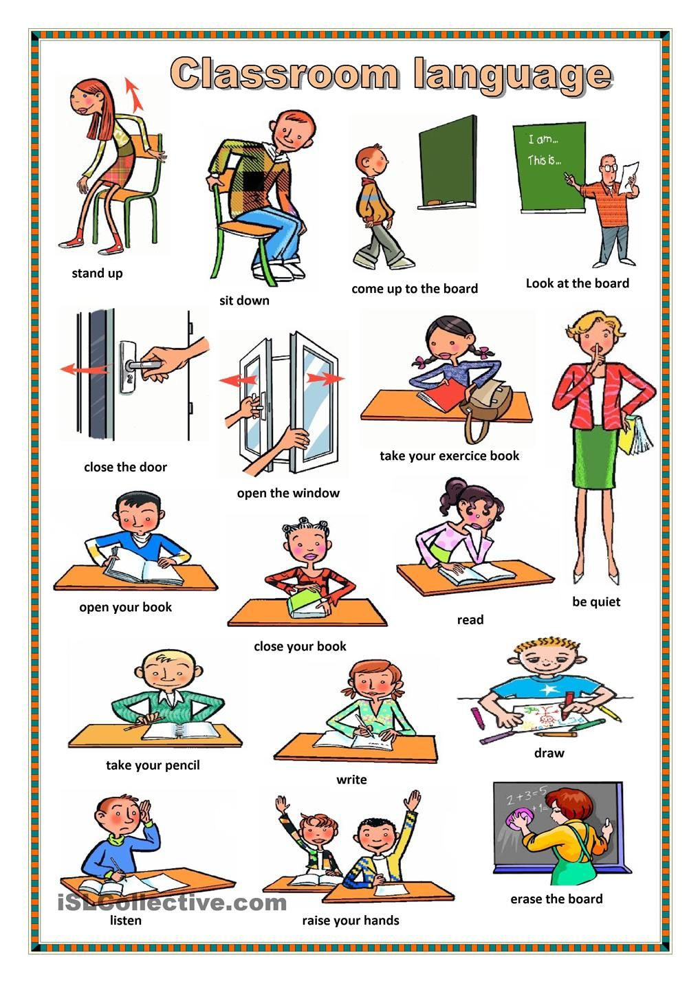 classroom english 3 teach classroom english early on in the second or third lesson students should be taught useful classroom english the students should thoroughly memorize and practice using these expressions.
