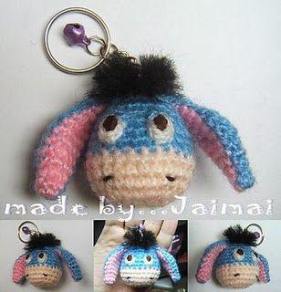 Free Eeyore Crochet Keychain Pattern ... http://freecrochetpatterns3808.blogspot.com/