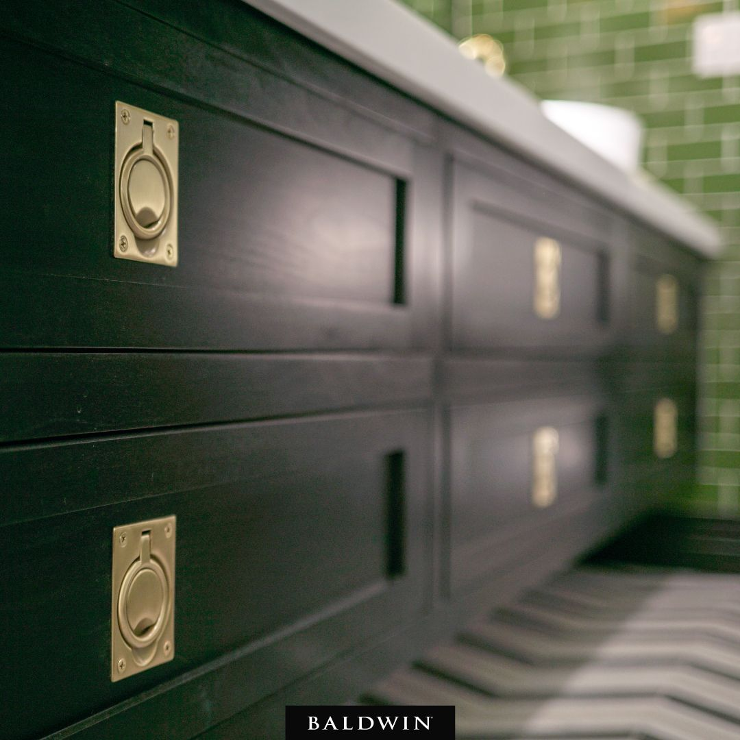 These Bold Bathroom Cabinets And Our Flush Ring Pulls Are Simply A Match Made In Heaven Beauty All Around In The Designs Of Pro Flush Ring Bold Bathroom Flush Ring pull cabinet hardware