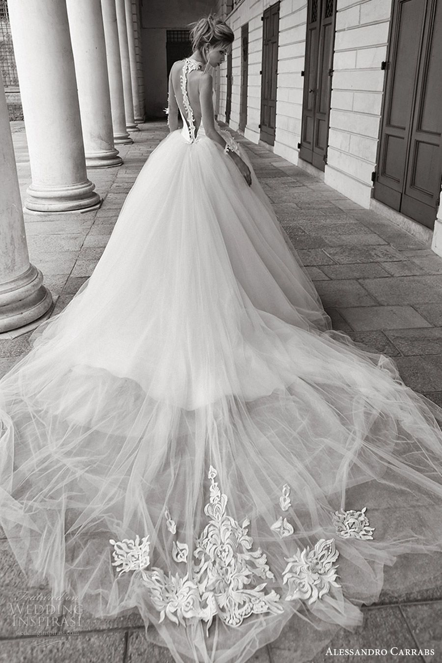 Wedding dress with collar  Alessandro Carrabs  Wedding Dresses u ucPalcoscenicoud Couture