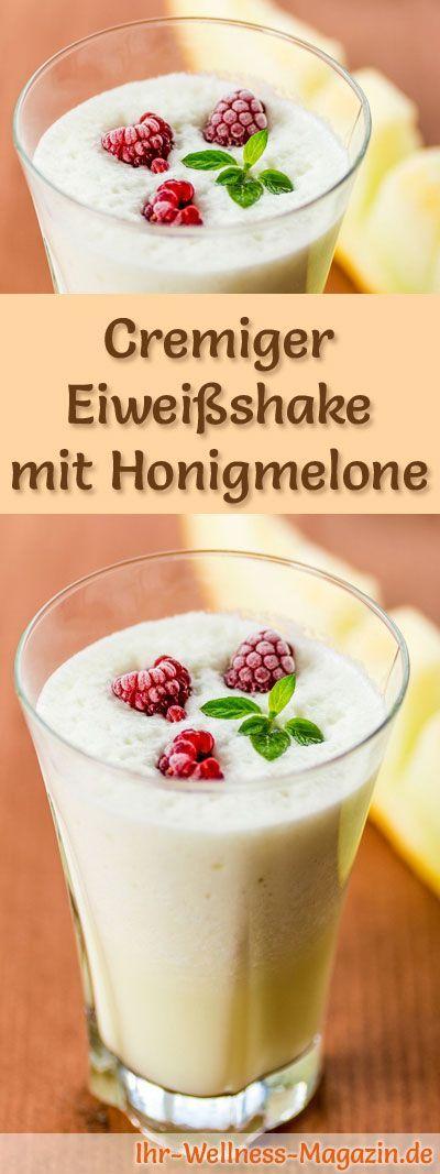 Eiweißshake mit Honigmelone - Smoothie & Abnehmshake zum selber machen #proteinshakes