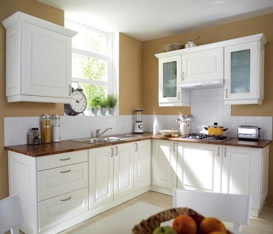 Belle et l gante les meubles de cuisine cosy blanche - Hotte de cuisine brico depot ...