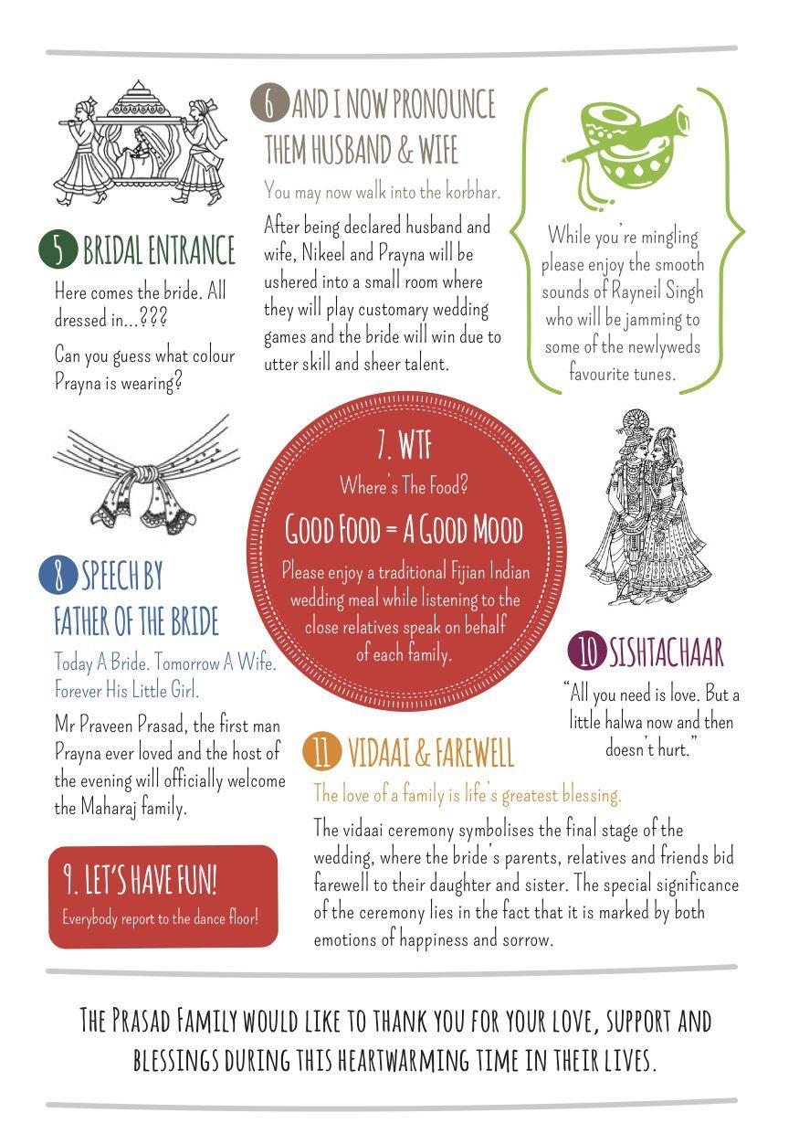 A Fun Hindu Wedding Program! | Pinterest | Wedding programmes, Hindu ...